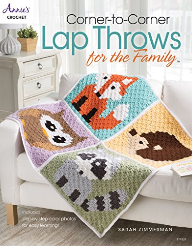 Corner-to-Corner Lap Throws For the Family (Annies Crochet) - Family Crochet Pattern