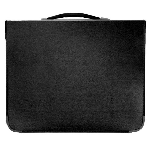 Prat Start 2 Presentation Case, Rigid Cover, Multi-Ring Binder with 10 Sheet Protectors, Spine-Mounted Handle, 17 X 14 inches, Black (S2-2171)