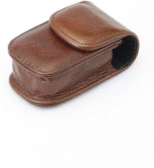 HUOYAN 45x85x25mm Caja De Anteojos Plegable De Cuero Real Desgaste Cinturón Carpeta Gafas De Sol Estuche Protector Contenedor Lentes Bolsa De Almacenamiento (Color : 1): Amazon.es: Jardín