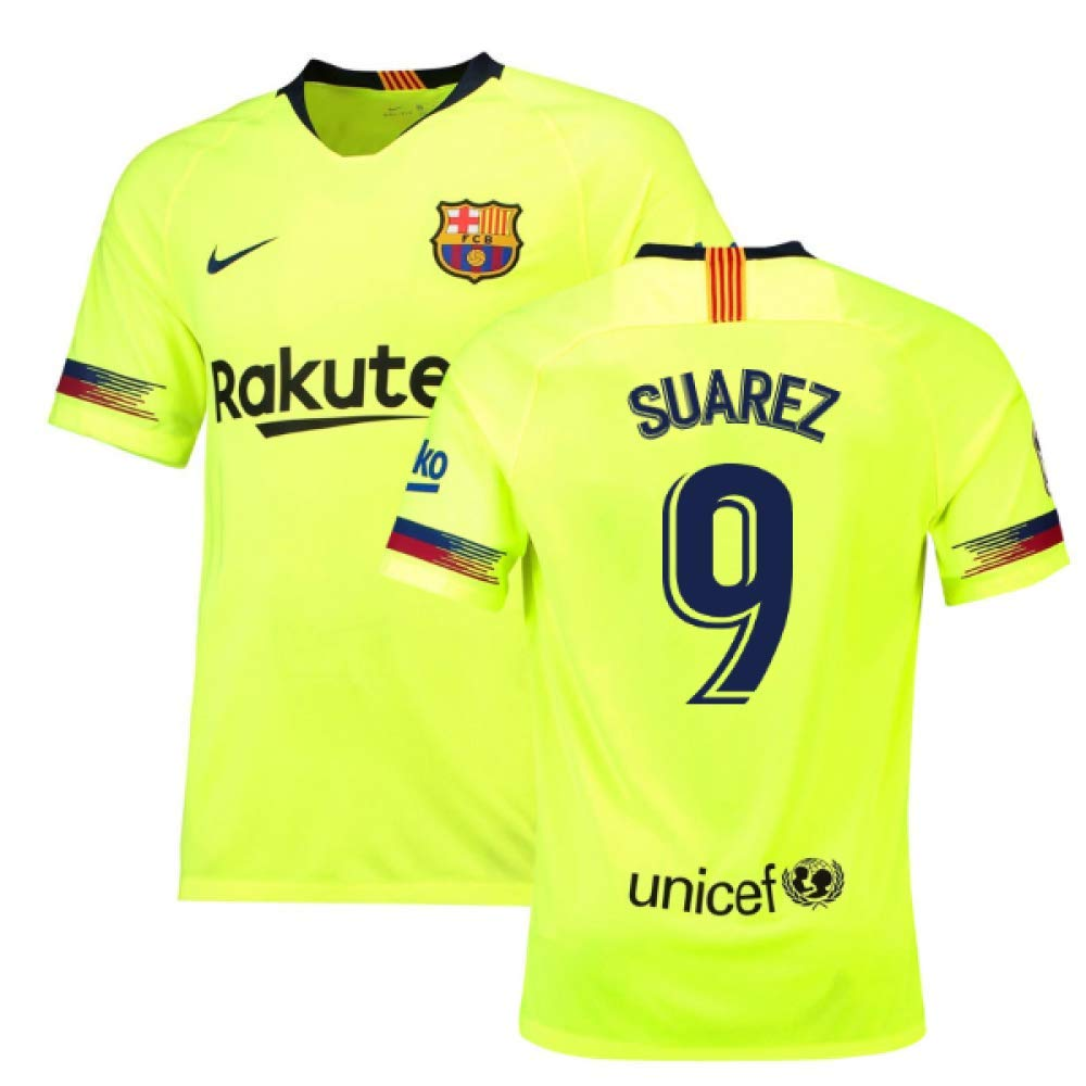 2018-19 Barcelona Away Football Soccer T-Shirt Trikot (Luis Suarez 9)