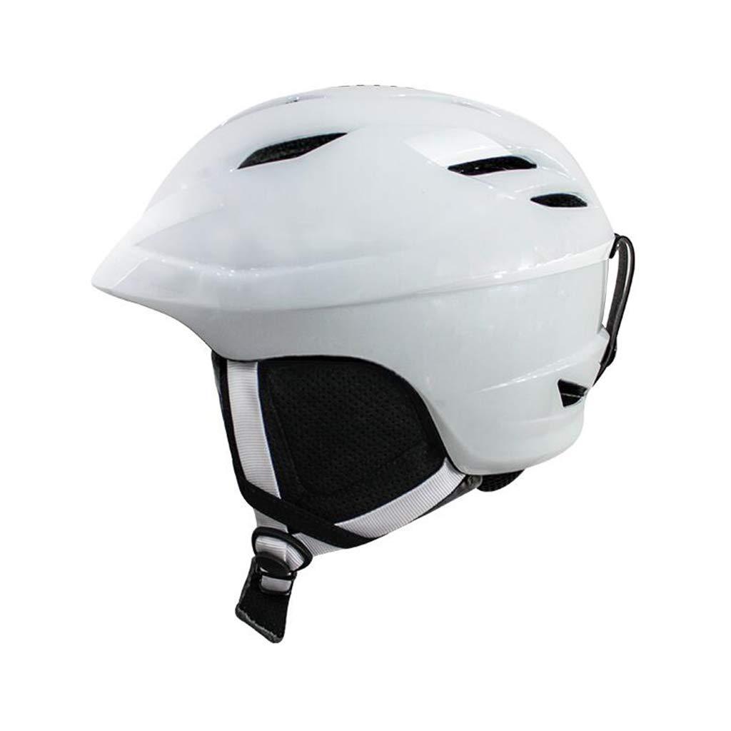 ヘルメット スキー&スノーボードヘルメット、スキー用保護安全帽男性女性スケートボードスケートヘルメットシングルボードダブルボード調節可能A Medium 白 B07PYNS785