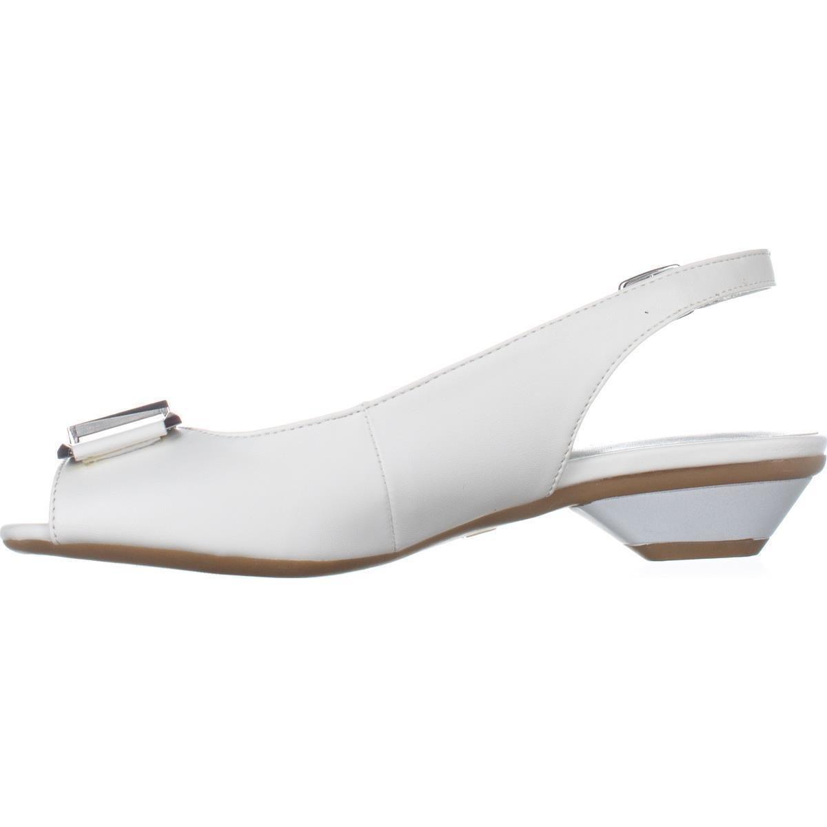 044cecf4682 Karen Scott KS35 Inga Peep Toe Kitten Heels - White
