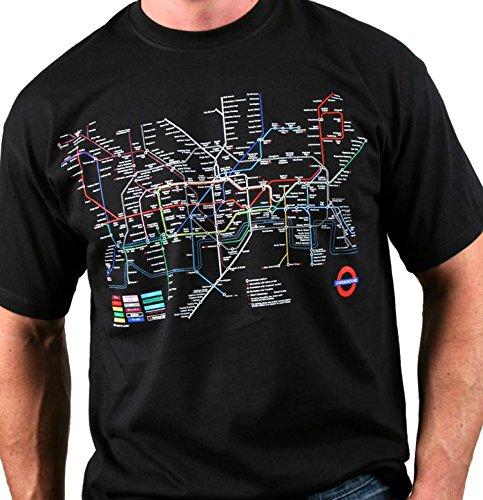 Londoner U-Bahn Transport for London - U-Karten-T-Shirt (schwarz)
