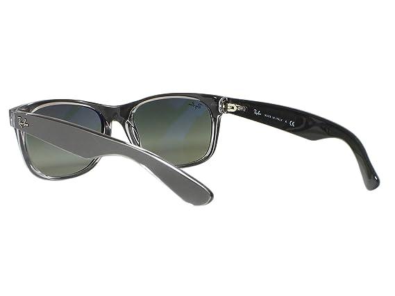 b2c38717e03 Amazon.com  Ray Ban RB2132 New Wayfarer 6143 71 Top Brushed Gunmetal  sunglasses 55mm  Clothing