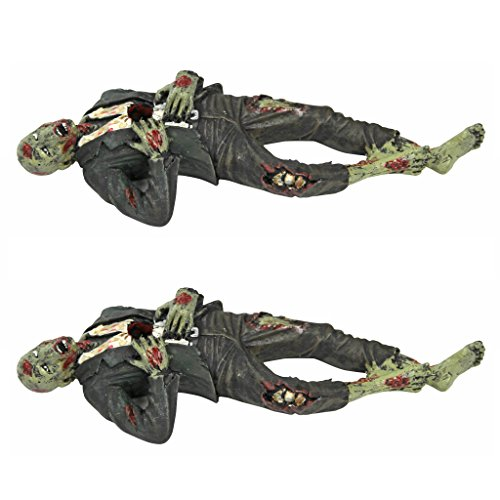 Death Desk Accessories - Impaled Zombie Figure Set of Two - Pencil Holder - Zombie (Funny Halloween Office Decorations)