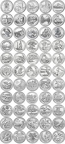 2010 P, D 2010-2020 BU National Parks Quarters - 110 coin Set Uncirculated
