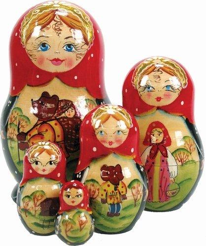 """UPC 746550024010, G. Debrekht Bear Tale Nested Doll, 5"""""""
