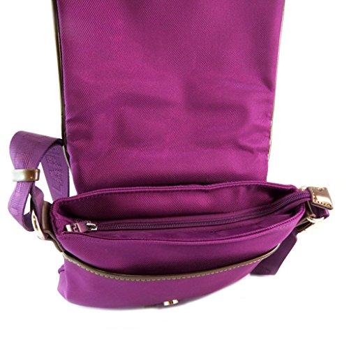 25x17x2 cm Sac P6101 Lapidus violet bandoulière Ted wxFqXSUTn