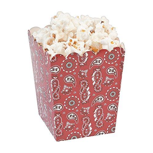 Bandana Print Popcorn Boxes ()