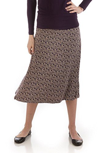 BambooDreams Tea Length Skirt (Small, Nightshade (Rhapsody Tea)
