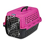Petmate Compass Fashion Kennel, 24.6''L x 16.9''W x 15''H, Pink/Black, 5ct