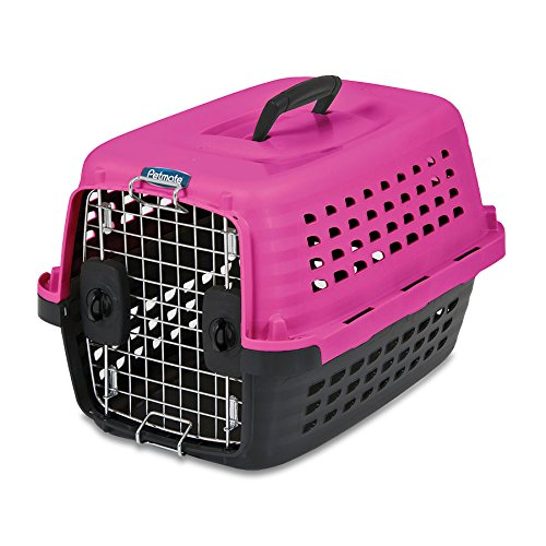 Petmate Compass Fashion Kennel, 24.6''L x 16.9''W x 15''H, Pink/Black, 5ct by Doskocil