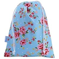 Rose Cotton Drawstring Wash Bag Toiletry Bag Girls Women