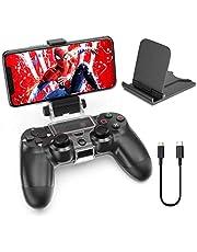 OIVO Soporte Smartphone para Mando PS4, Soporte Clip para teléfono móvil para Controlador de PS4 Gamepad, Soporte Ajustable para Teléfono