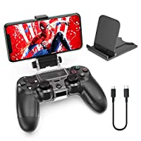 OIVO PS4 Controller Clip Mount, Mobile Phone Clamp Bracket Holder with Adjustable Stand for PlayStation4/PS4 Slim/PS4 Pro Controller