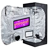 TopoLite LED 300W Full Spectrum Grow Light + 20″x20″x48″ Grow Tent Dark Room Indoor Hydroponic System Grow Tent Complete Kit For Sale