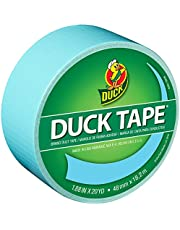 """Duck Brand 240980 Color Duck Tape, 1.88"""" by 20 yd, Single Roll, Pastel Blue/Frozen Blue"""