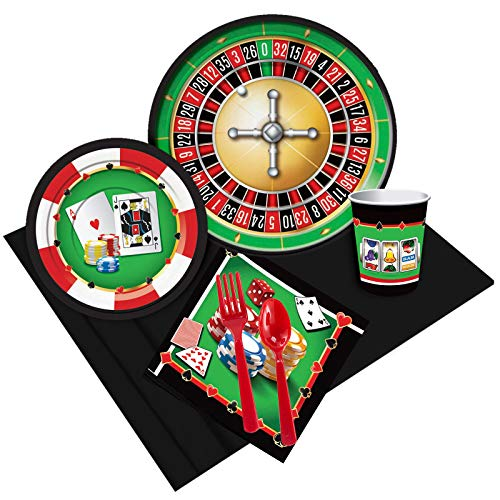 BirthdayExpress Casino Party Supplies Pack for 8 ()