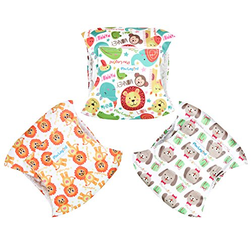 Paw Legend Washable Dog Belly Wrap Diapers for Male Dog (3 PACK,Miracle,Small)