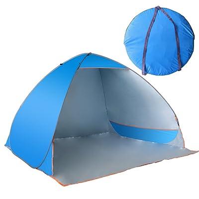 TY WJ Famille Tentee De Camping Sandy Parasol Voyage Tentees Dôme  Entièrement Automatique Ombre Ouverture Rapide Plein Air Protection Uv  Tente 3-4 Personne 1ecf5dc643a