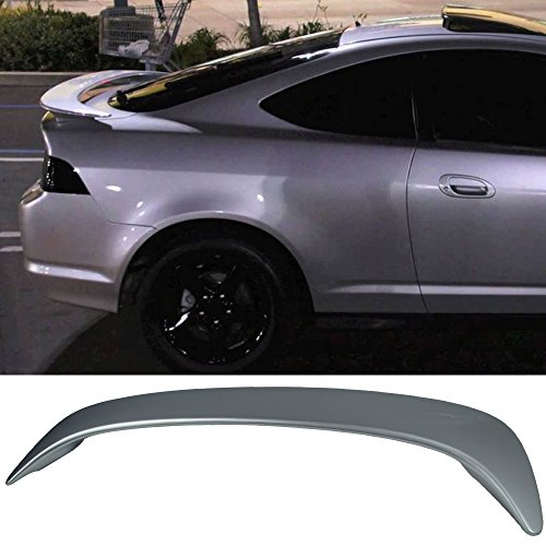 Pre-painted Trunk Spoiler Fits 2002-2006 Acura RSX | Factory Style ABS Painted #NH623M Satin Silver Metallic Boot Lip Rear Spoiler Wing Deck Lid Other Color Available By IKON MOTORSPORTS 02 Rear Spoiler Wing