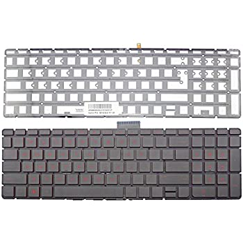New For HP Pavilion 15-au 15-au000 15-bc 15-bc000 UK Silver backlit keyboard