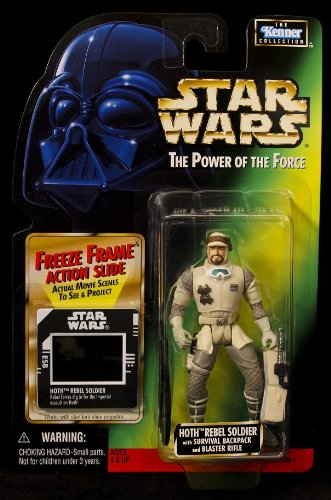 Star Wars Power of the Force Hoth Rebel Soldier - Green Card