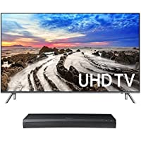Samsung UN49MU8000 49 4K UHD HDR Smart TV with UBD-M9500 4K Ultra HD Blu-ray Player