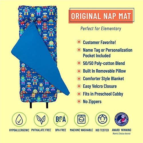 21x50 Blue Linen Depot Direct TN002A8002105/_Planes Take-a-Nap Childrens Sleep Mat