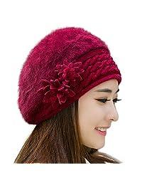 RICHTOER Women Slouch Baggy Winter Warm Knit Crochet Beanie Hat Cap Beret