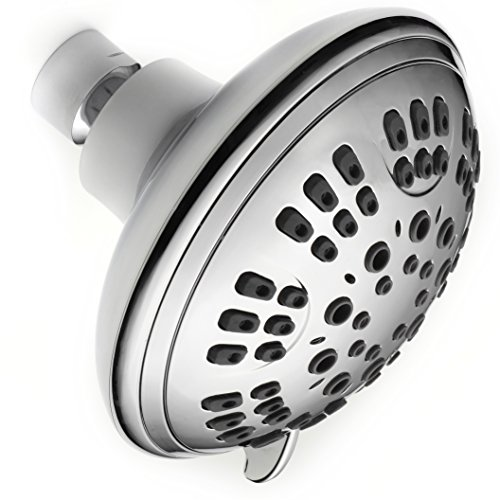 Shower Head Water Filter Limited Edition 6 Spray Settings Luxury Shower Head -Includes 2 pFilters And Teflon-Chrome Finish Shoead - Adjustable, Multifunctional & Powerful Shower Head (Showerhead Electric Water Heater)