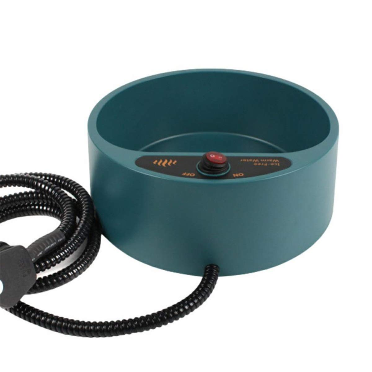 bluee EU Plug bluee EU Plug Wholesale Dog Cat Pet Electronic Heated Water Bowl Dish Outdoor Thermal Water Feeder Heater Safe Feed Cage Bowl Container bluee EU Plug