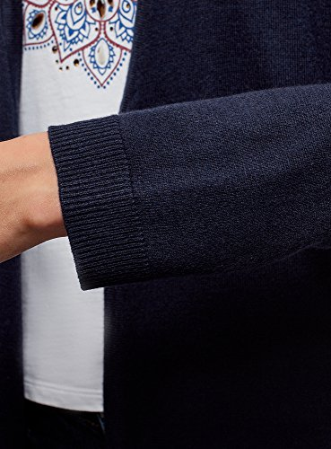 sans Tricot Bleu en Ultra Cardigan 7900n oodji Femme Fermeture xOBXRBwq