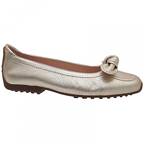 Kennel Und Schmenger Womens Bow Detail Slip On Flat Pump 4 Gold