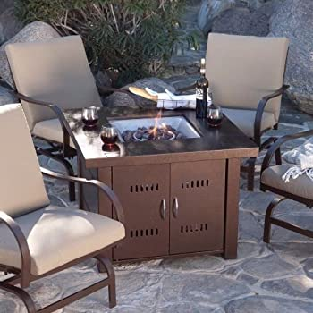 Amazon Com Outdoor Fireplace Propane Lp Furniture Fire Pit Table