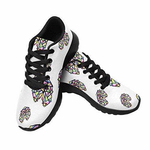 Scarpe Da Trail Running Da Donna Di Interestprint Da Jogging Leggero Sportivo Da Passeggio Con Sneakers Da Ginnastica Cuore, Sfondo, Pattern Multi 1