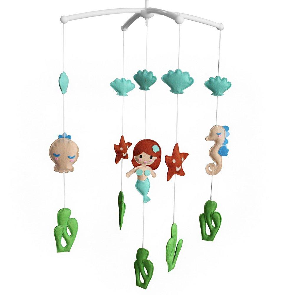 Creative Baby Crib Rotatable Musical Mobile [Mermaid and Starfish] Blancho Bedding
