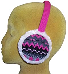 N'Ice Caps Girls Currier and Ives Winter Print Adjustable Pile Ear Muff