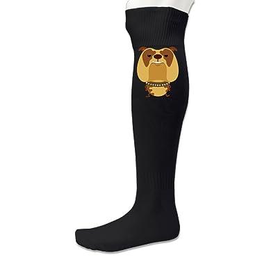 Men's Fierce Dog Casual Sports Soccer Knee High Socks
