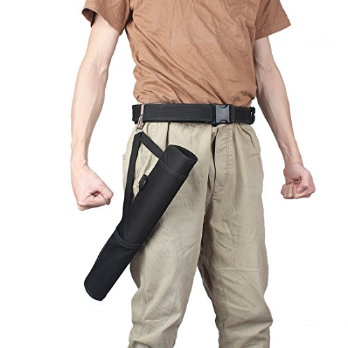 KRATARC Archery Arrows Tube Hip Quiver Waist Hanged Carry Bag (Black- Upgraded version) by KRATARC (Image #6)