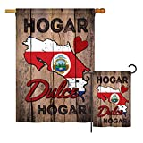 Ornament Collection S191169-BO Country Costa Rica Hogar Dulce Hogar Flags of The World Impressions Decorative Vertical House 28″ X 40″ Garden 13″ X 18.5″ Double Sided Flags Printed in USA Multi-Color