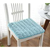 chair pad Summer Velvet Chair Cushions Dining with Corner Ties (blue)