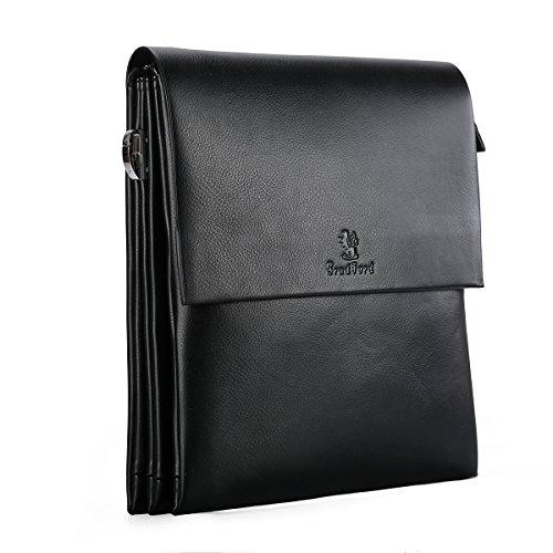 Price comparison product image Men Messenger Bag,  Leather Multi-pocket Crossbody Sling Backpack Bag Briefcase Shoulder Bag for Ipad (Style 2)