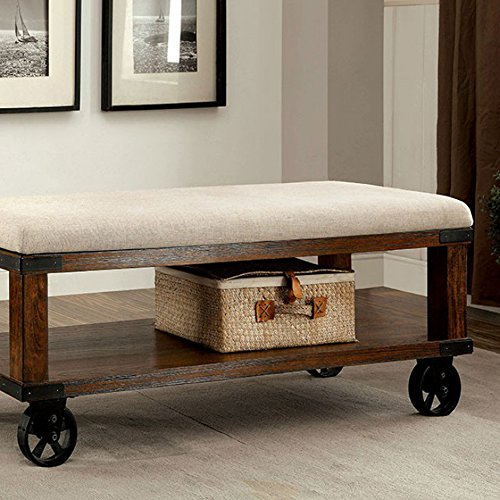 Furniture of America CM-BN6254 Broadus IV Light Oak Bench Seating by Furniture of America