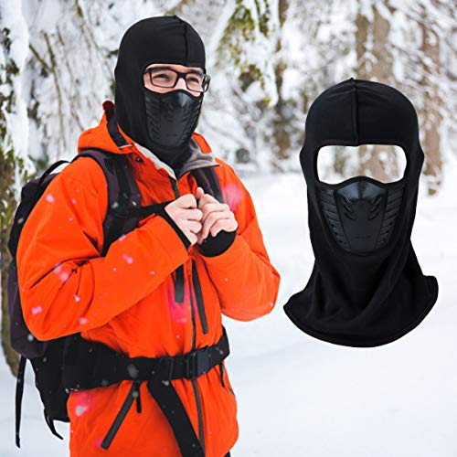Balaclava Face Mask,Coxeer Sun Mask Windproof Men Women Warmer Protection from Dust & UV Rays Masks Thermal Fleece Fabric with Breathable Vents for Cold Cycling Skiing Motorcycle Snowboard Tactical