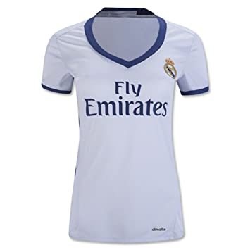 Women s 2016 2017 Real Madrid CF DIY Name and Number Home Football Soccer  Jersey In White  Amazon.co.uk  Sports   Outdoors 04272889ae669