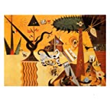 Terre Labouree, c.1923 Art Poster Print by Joan Miró, 20x16