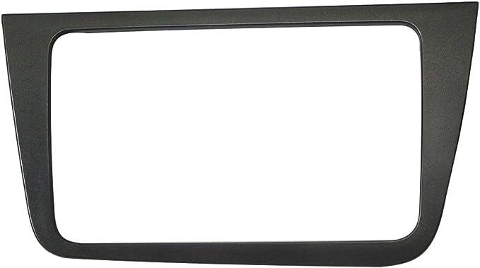 Maxiou Doppel Din Autoradio Fascia Für Seat Altea Stereo Frontplatte Rahmen Panel Dash Mount Trim Kit Adapter Frontblende Linkslenker Auto