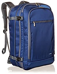 AmazonBasics - Mochila de viaje para uso como equipaje de mano, azul