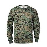 BlackC Sport Long Sleeve T-Shirt Woodland Digital Camo Tactical Military